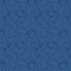 Organic Geometry - Plain Blue