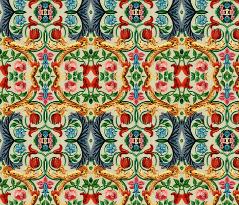 17eme siecle 81 fabric by hypersphere on Spoonflower - custom fabric