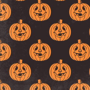 Orange and Black Halloween pumpkins