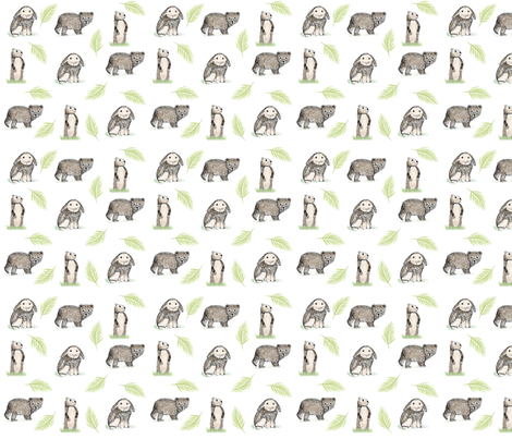 ANIMAL PATTERN fabric by lapriscilledesign on Spoonflower - custom fabric