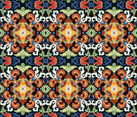 17eme siecle 95 fabric by hypersphere on Spoonflower - custom fabric