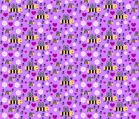 Bee nice you need us!!!! fabric by crabbynette on Spoonflower - custom fabric