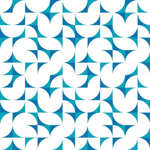 geometric tiles - surf's up coordinate in midday blue