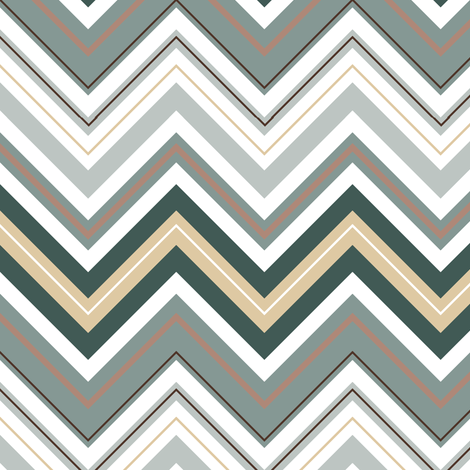 Misty Taupe Chevron fabric by jjtrends on Spoonflower - custom fabric