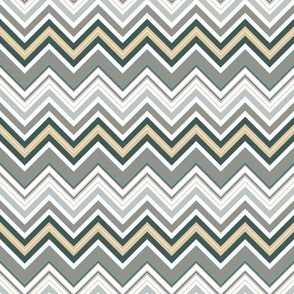 Misty Taupe Chevron