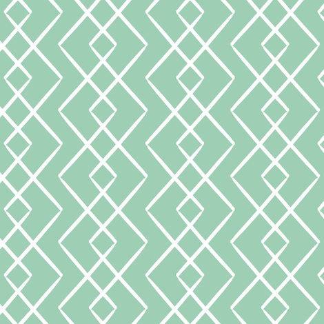 Falling Diamonds in Mint fabric by house_designer on Spoonflower - custom fabric