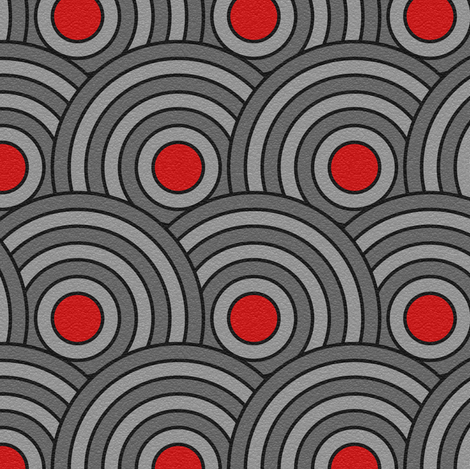 Lapped concentric circles fabric by studioxtine on Spoonflower - custom fabric