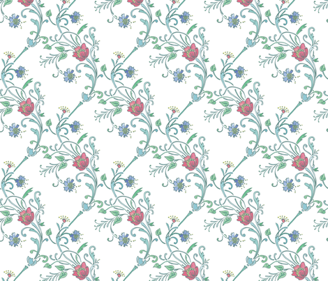 Cottage-Garden_Seamless_1800x3600 fabric by raymondwarenyc on Spoonflower - custom fabric