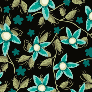 Wildflowers Teal