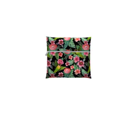 Hibiscus Floral Lovebirds