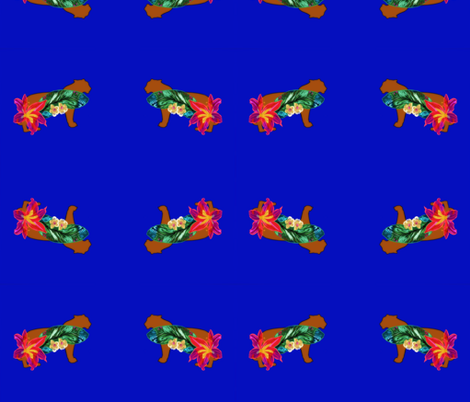 Tigre Flowered. fabric by maria81 on Spoonflower - custom fabric
