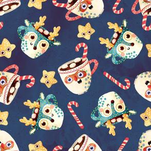 Santa and Reindeer mugs