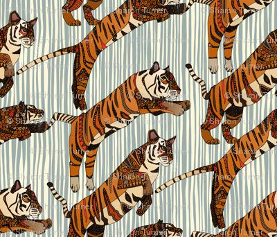 tiger stripes silver