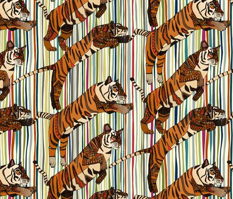 tiger stripes fabric by scrummy on Spoonflower - custom fabric