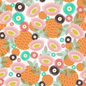 Geo Oranges and Flowers