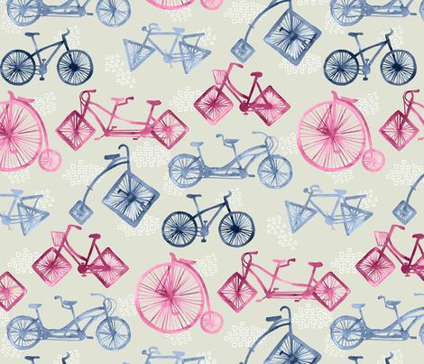Crazy Bikes fabric by marketa_stengl on Spoonflower - custom fabric