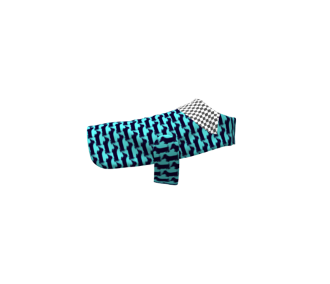Dachshund 2   Navy on Turquoise blue