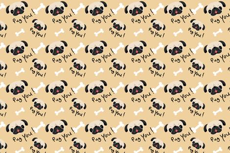 Funny Pug Dog Pattern fabric - sobonnydesigns - Spoonflower