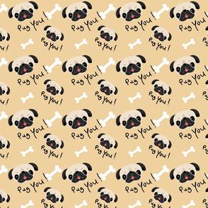 Funny Pug Dog Pattern