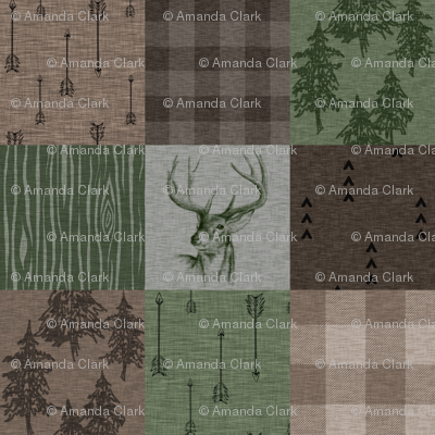 Rustic Buck - Camo - green, brown, tan