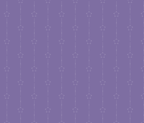 Starry Stripe: Violet 7+5 fabric by dept_6 on Spoonflower - custom fabric