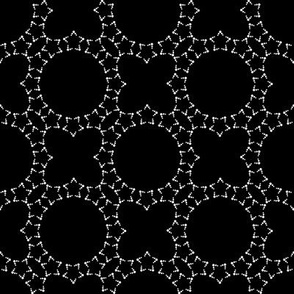 Starlight Lattice: Black & Cream