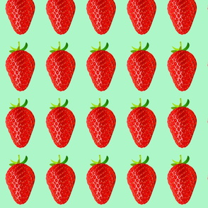 strawberry mint background