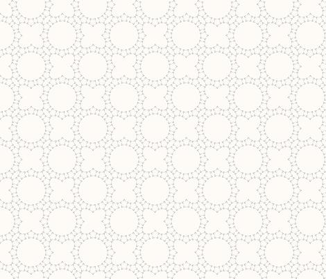Starlight Lattice: Cream & Gray 6 fabric by dept_6 on Spoonflower - custom fabric