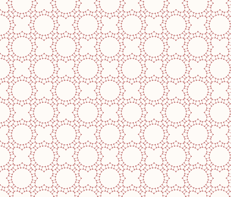 Starlight Lattice: Cream & Candy Apple Red fabric by dept_6 on Spoonflower - custom fabric