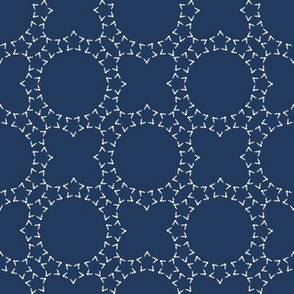 Starlight Lattice: Navy & Cream