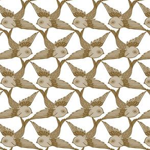 Two Birds {Antique/White}