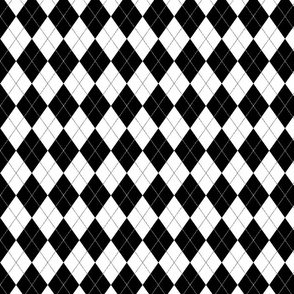 Black and White Argyle Pattern