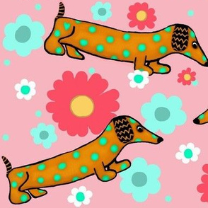 The Dotted Dachshund Garden Party-Stagger Lg.