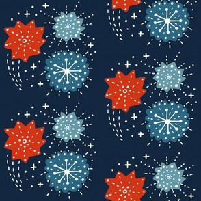 Fireworks- Red White and Blue