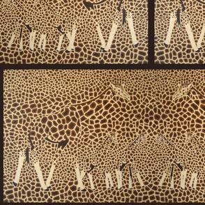 Camouflage Giraffe Herd- brick repeat