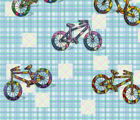 wildflower_biking fabric by quizzicalkittydesigns on Spoonflower - custom fabric