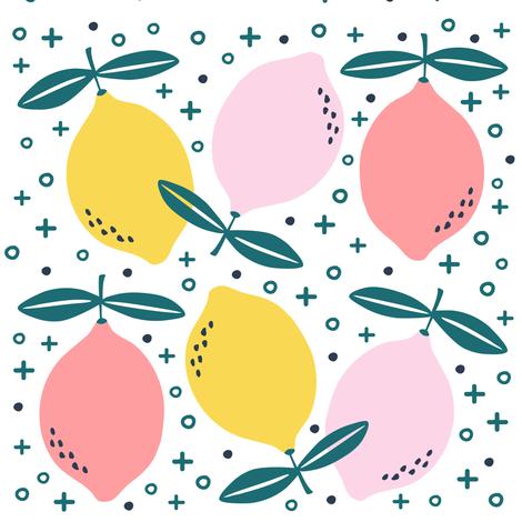 Pink Lemonade 2 fabric by ellolovey on Spoonflower - custom fabric