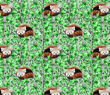 Red Pandas fabric by everhigh on Spoonflower - custom fabric