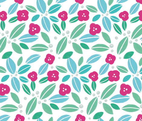 Oahu Floral fabric by charladraws on Spoonflower - custom fabric