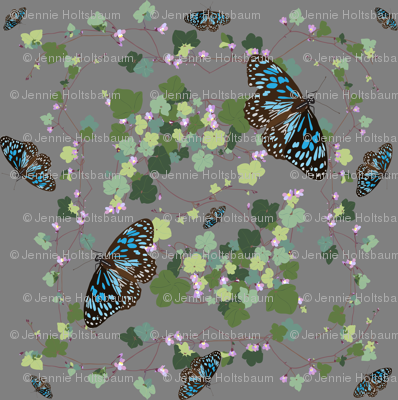 2941 Australian-Native-Violet-and-Blue-Butterfly-Grey
