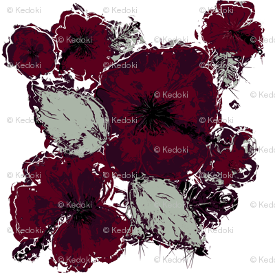 Elegant Hawaiian Hibiscus Floral Pattern by kedoki