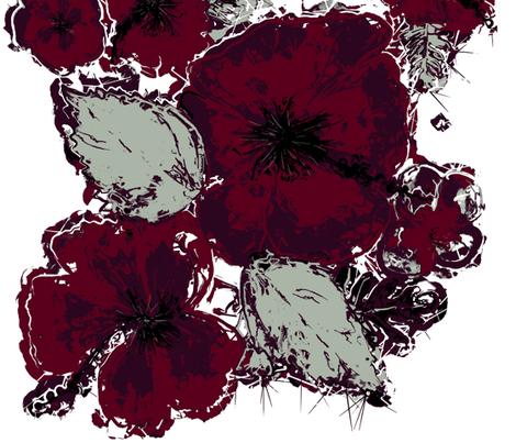 Elegant Hawaiian Hibiscus Floral Pattern by kedoki fabric by kedoki on Spoonflower - custom fabric