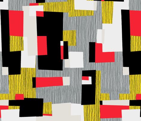 JIVE-Blocks_Yellow-Red fabric by elizabeth_hale_design on Spoonflower - custom fabric