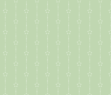 Starry Stripe: Mossy Green 6 fabric by dept_6 on Spoonflower - custom fabric