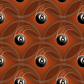 ★ MAGIC EIGHT BALL ★ Orange - Small Scale / Collection : 8 Balls - Billiard & Rock 'n' Roll Old School Tattoo Print