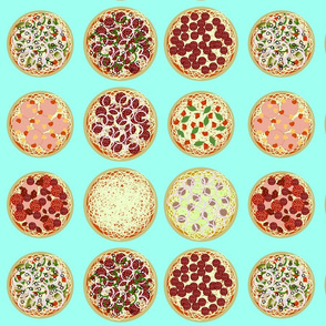 Annie's Pizza Station Collage-mint green
