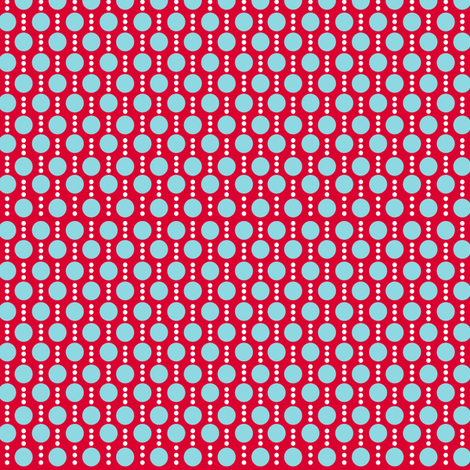 Roughing It Dots Red Blue fabric by lauriewisbrun on Spoonflower - custom fabric
