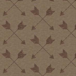 """3"""" Crossed Arrows - mocha"""