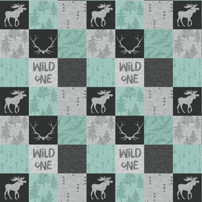 "2.5"" wild One Quilt- Mint and black"