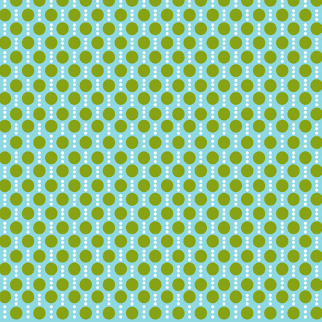 Roughing It Dots Blue Green fabric by lauriewisbrun on Spoonflower - custom fabric
